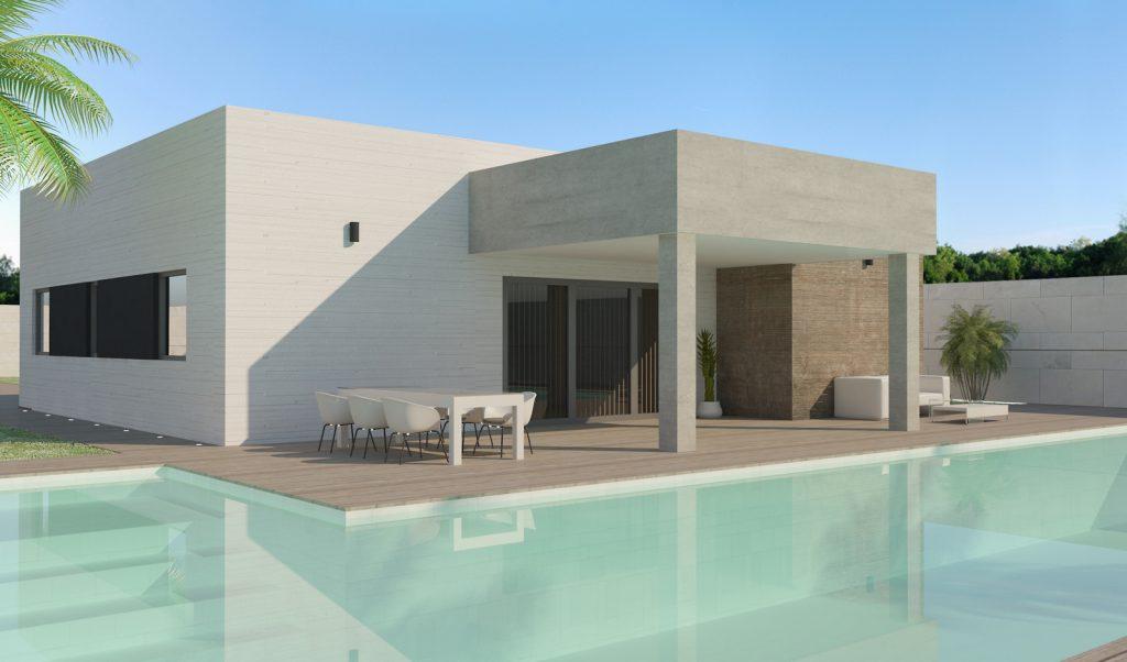 piscina y porche modelo Lugo 2020